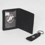 Kit Porta Cartão e Chaveiro Escudo Minimalista