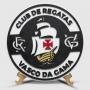 Placa Decorativa Vasco Brasão Baixo Relevo
