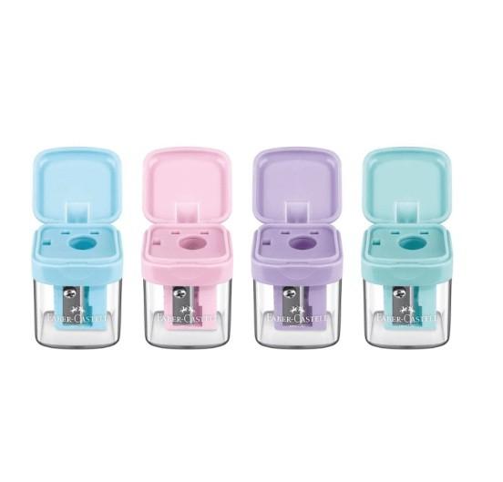 Apontador com Deposito Tons Pastel Minibox Sort. 20 Und - Faber Castell