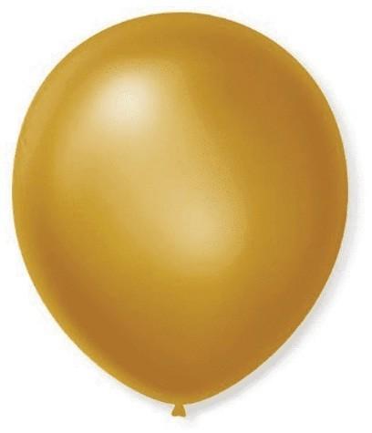 Balão Cintilante 7,0 DOURADO (50 Unidades) - São Roque