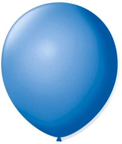Balão Liso 7,0 Imperial AZUL TURQUEZA (50 Unidades) - São Roque
