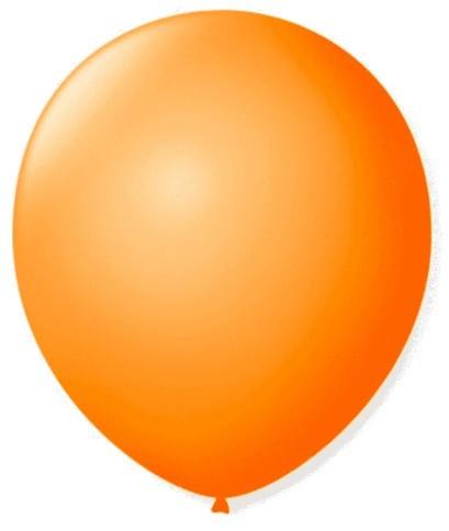 Balão Liso 7,0 Imperial LARANJA (50 Unidades) - São Roque