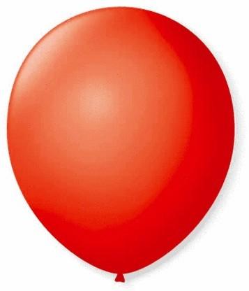Balão Liso 7,0 Imperial VERMELHO QUENTE (50 Unidades) - São Roque