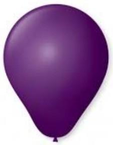 Balão Liso Basic 6,5 ROXO (50 Unidades) - São Roque