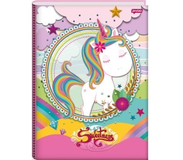 Caderno Brochura C.D. - Sweetness 96 Folhas - Jandaia
