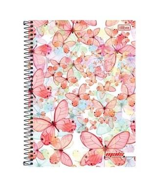 Caderno Espiral C.D 10 x 1 200 Folhas Mais Fem PT/4