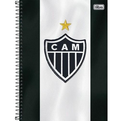 Caderno Espiral C.D. 1 Matéria Atlético 96 Folhas - Tilibra