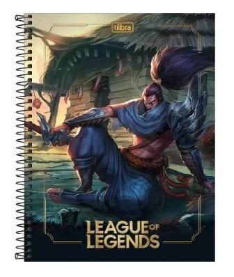 Caderno Espiral C.D 1 x 1 80 Folhas League Of Legends PT/4