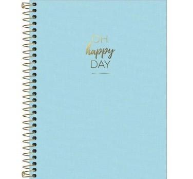 Caderno Espiral Capa Plástica - Happy AZUL 80 Folhas - Tilibra PT/5