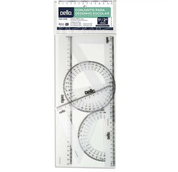 Conjunto Desenho Escolar Segundo Grau Flexível 8700 - Dello