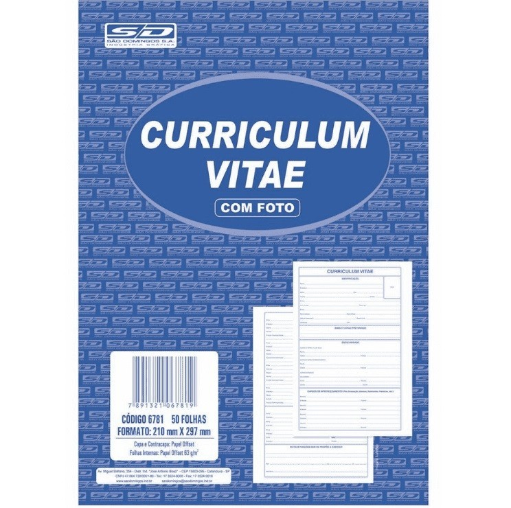 Curriculum 210 x 277mm - São Domingos