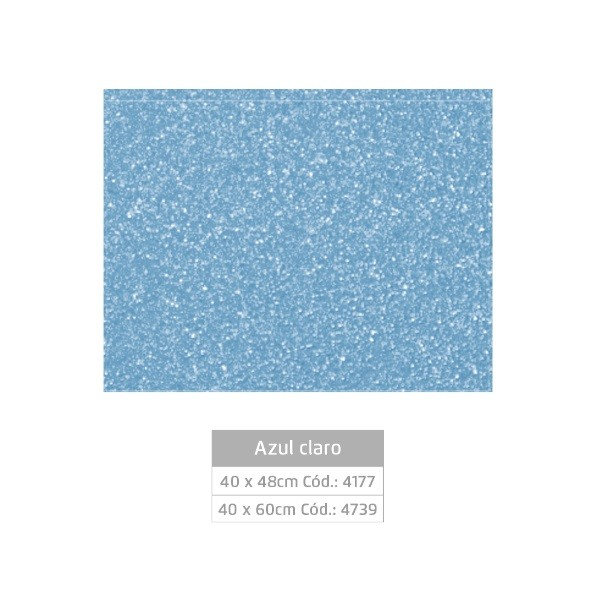 Folhas de EVA Glitter AZUL CLARO - Jocar
