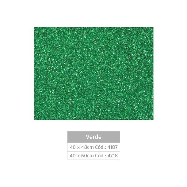 Folhas de EVA Glitter VERDE - Jocar