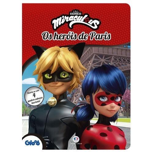 Livro - 4 Quebra-cabeças - Ladybug - Miraculous - Os Heróis de Paris