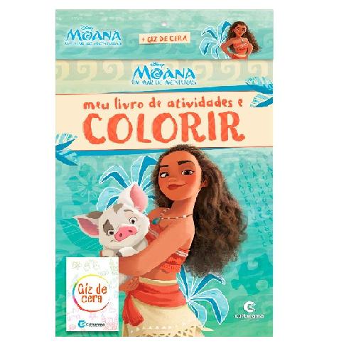 Livro de Atividades e Colorir - Moana com Giz