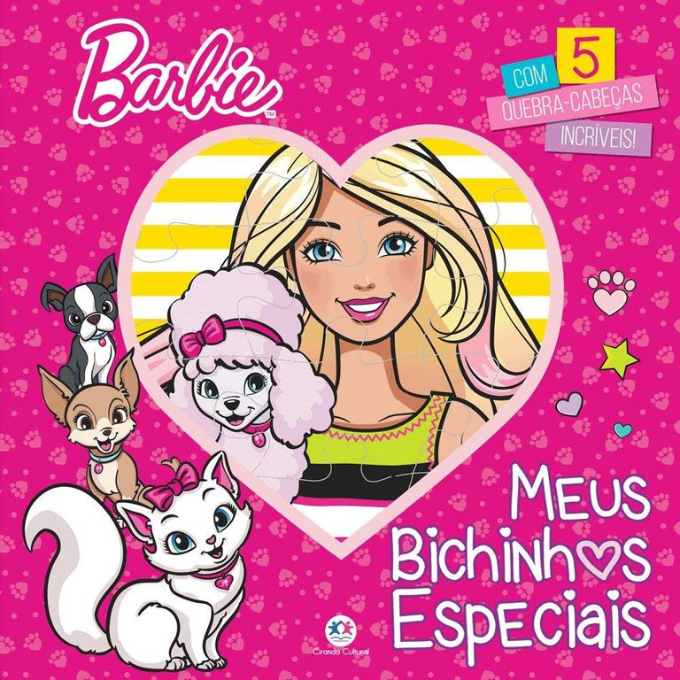 Livro Quebra Cabeça - Barbie Meus Bichinhos Especiais