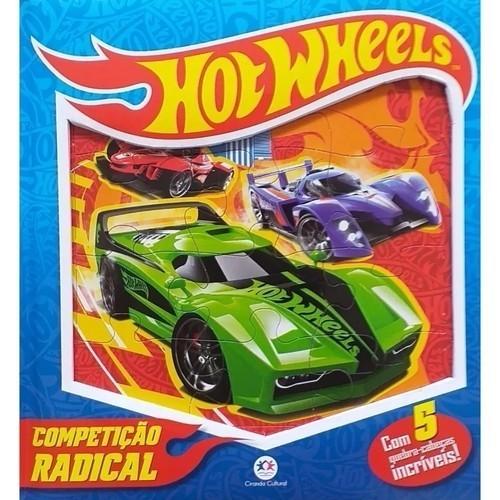 Livro Quebra Cabeça - Hot Wheels - Competiçao Radical