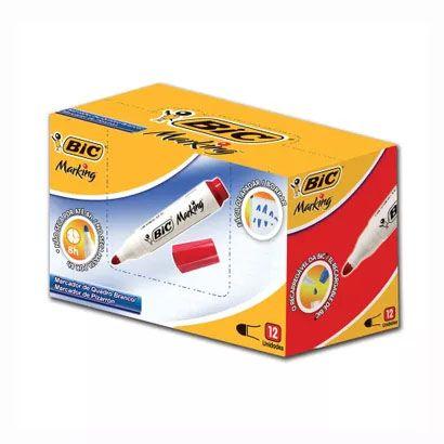 Marcador/Pincel Quadro Branco Recarregavel VERMELHO - BIC (12 Unidades)