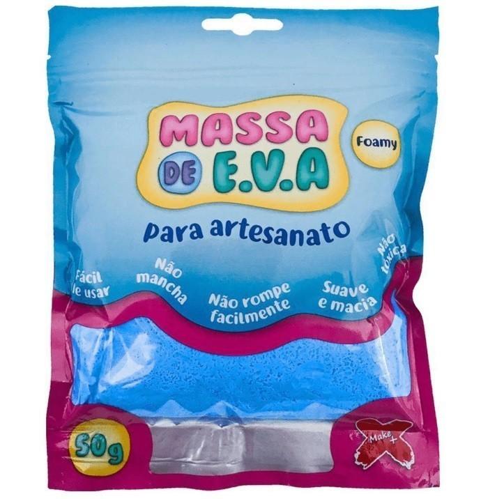 Massa de EVA 50g AZUL CLARO - Make+