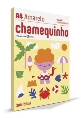Papel A4 Chamequinho AMARELO 210 x 297 100 Folhas