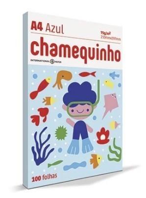 Papel A4 Chamequinho AZUL 210 x 297 100 Folhas