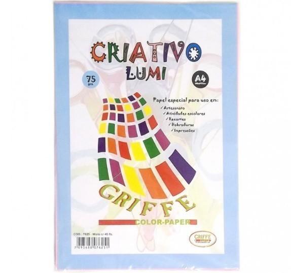 Papel Criativo A4 Lumiset 48 Folhas - Griffe