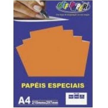 Papel Plus A4 LARANJA 120g - Off Paper
