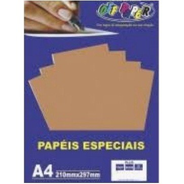 Papel Plus A4 MARROM 120g - Off Paper