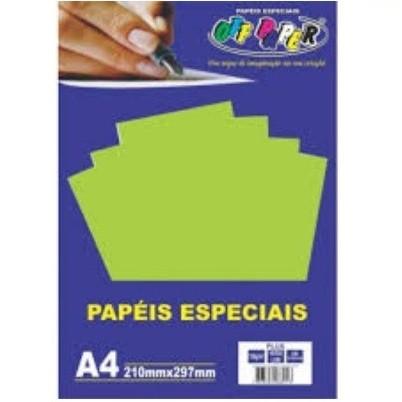 Papel Plus A4 VERDE Lumi 120g - Off Paper
