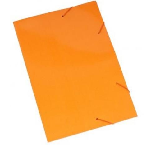 Pasta Cartão Duplex com Abas e Elástico LARANJA - Polycart