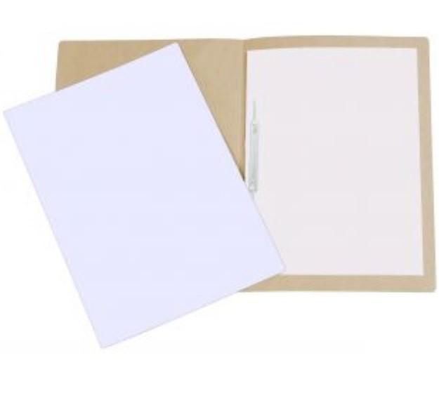 Pasta Cartão Duplex com Grampo BRANCA - Polycart