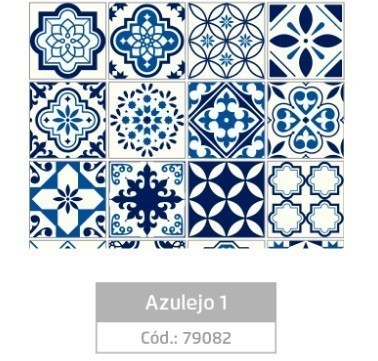 Plástico Adesivo 45cmx10m AZULEJO 1 - Jocar