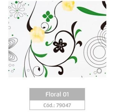 Plástico Adesivo 80MIC Floral 01 - 10m