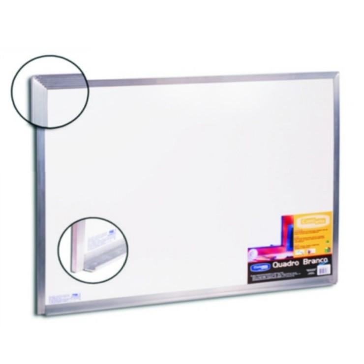 Quadro Branco Moldura Alumínio 120 x 90cm - Cortiarte