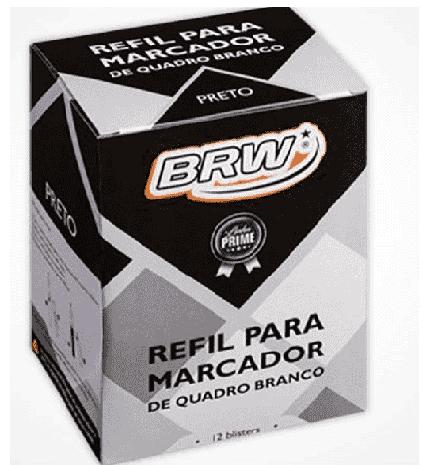Refil para Caneta Marcadora Quadro Branco - PRETO (12 Unidades)