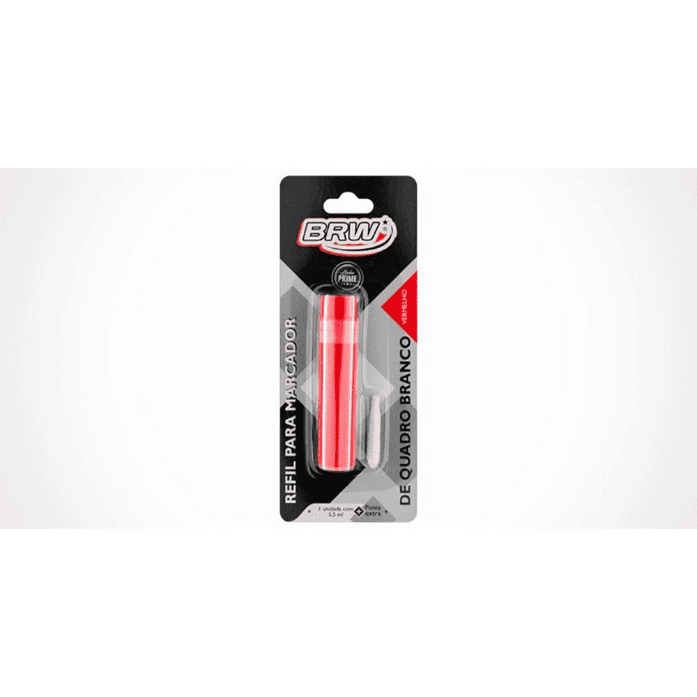 Refil para Caneta Marcadora Quadro Branco - VERMELHO (12 Unidades)
