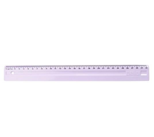 Régua Plástica 30cm ROSA PASTEL - Dello (10 Unidades)