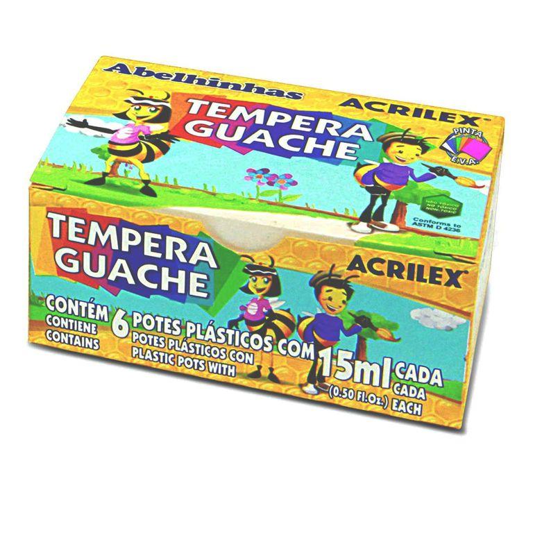 Tinta Guache - Cores Sortidas 15ml - Acrilex