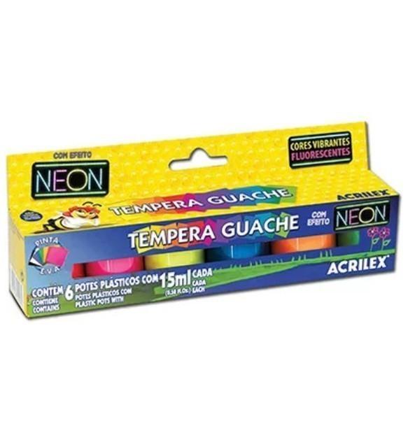 Tinta Guache Neon - Cores 15ml - Acrilex