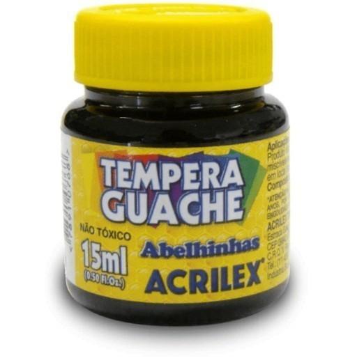 Tinta Guache PRETO 15ml 520 - Acrilex