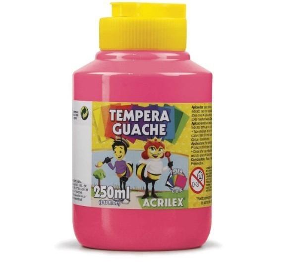 Tinta Guache ROSA 250ml - PT 03 - 537 - Acrilex