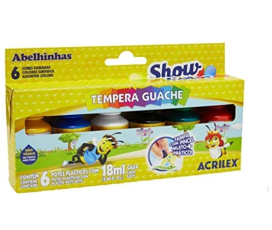 Tinta Guache Show Color - 6 Cores 18ml - Acrilex