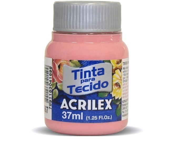 Tinta para Tecido Fosca ROSA CHÁ 37ml 567 - Acrilex