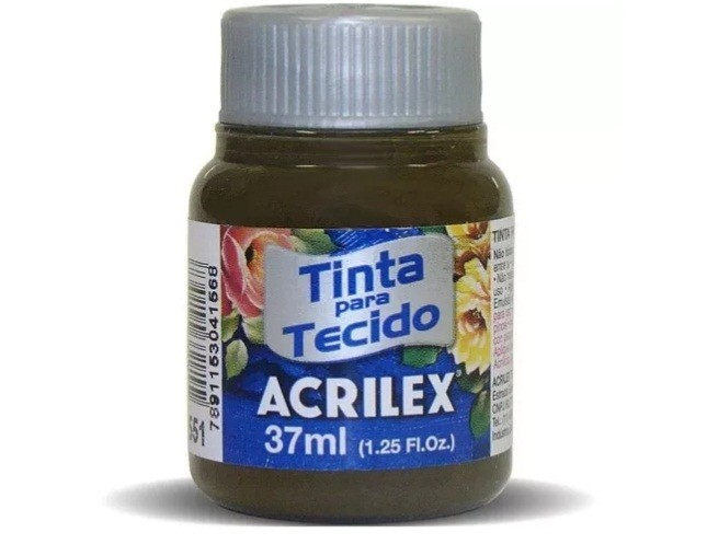 Tinta para Tecido Fosca SEPIA 37ml 551 - Acrilex