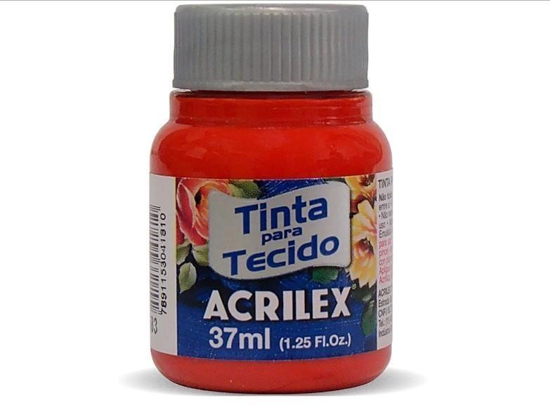 Tinta para Tecido Fosca VERMELHO TOMATE 37ml 583 - Acrilex
