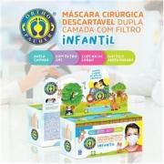 Máscara infantil dupla descartável c/ 50 unidades Ortho Pauher