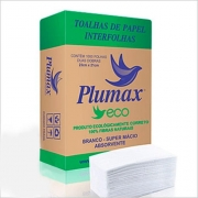 Papel toalha interfolha eco 23x21cm Plumax