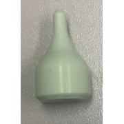 Ponteira de silicone  Verde sem Alma Central para Pinça de uretrocistografia de 4 garras