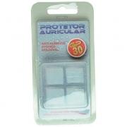 Protetor auricular de silicone natural Dogma c/ 4