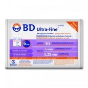 Seringa Insulina BD 0,3cc 6mm Ultra Fine II c/ 10 - REF 324916
